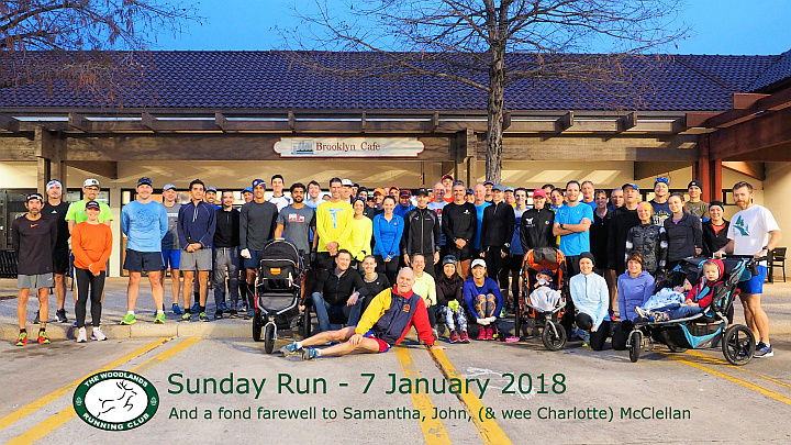 TWRC Sunday Group Run 1-7-18
