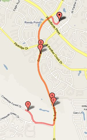 Club Maps Old Version The Woodlands Running Club