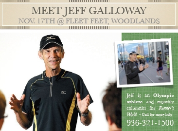 Meet Jeff Galloway Nov 17th 2012