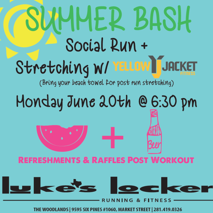 Luke's Locker Summer Bash, social run/walk, Monday, June 20th at 6:30 pm 2016