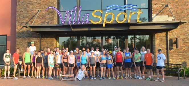 The Woodlands Group Run 6-10-12 VillaSport Free Pass day