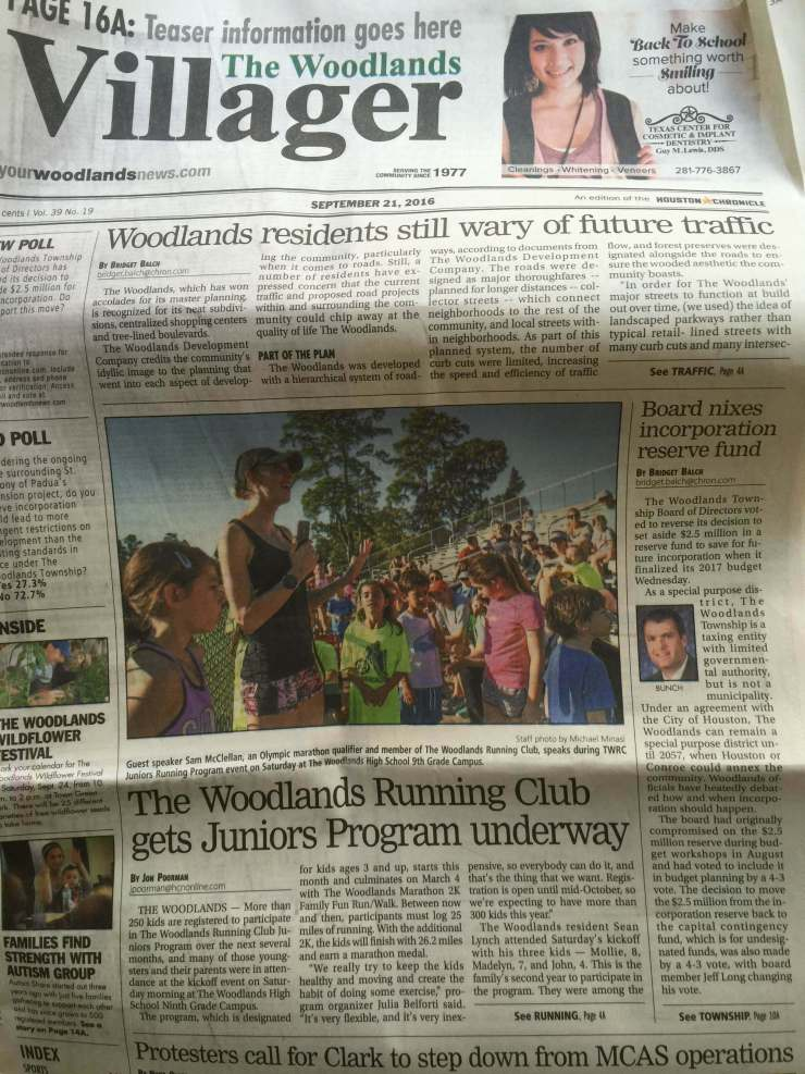 TWRC Junior's program is in the paper!