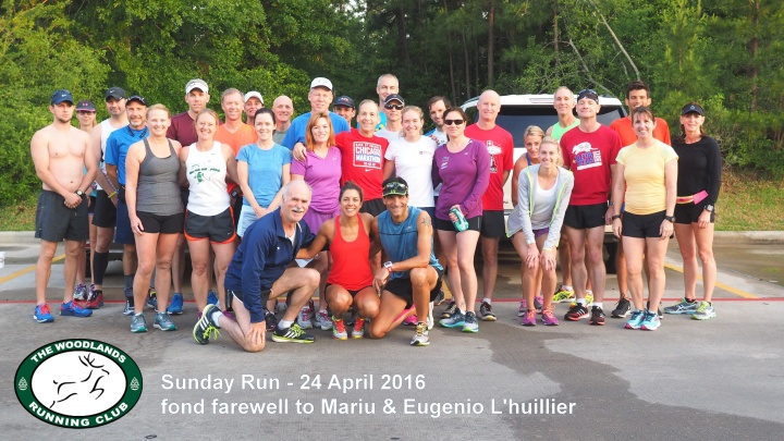 TWRC Sunday Run 24 April 2016, farewell to Mariu and Eugenio