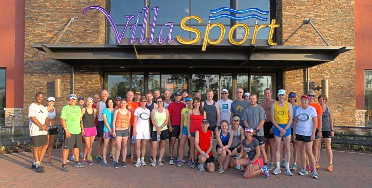 The Woodlands Group Run 6-9-13 VillaSport Free Pass day