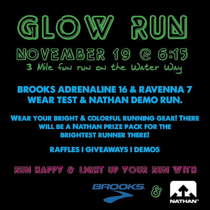 Luke's Locker GLOW RUN, Thursday November 19 @ 6:15 pm